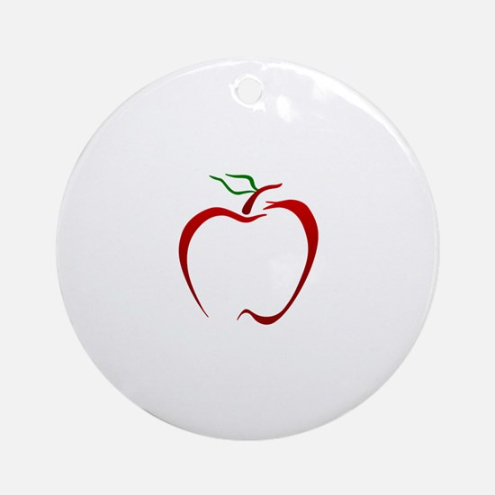 Apple Outline Ornament (Round)