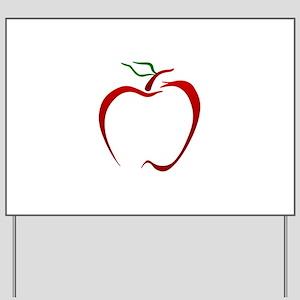 Apple Outline Yard Sign