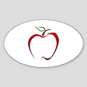Apple Outline Sticker