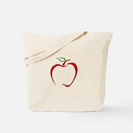 Apple Outline Tote Bag