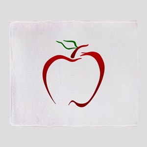 Apple Outline Throw Blanket