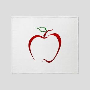 Apple Outline Throw Blanket
