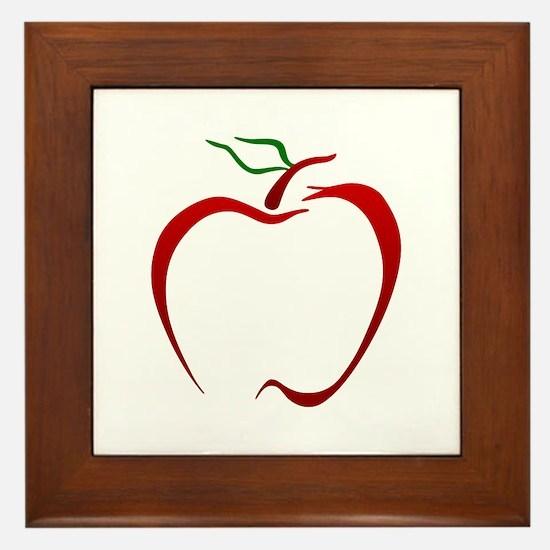 Apple Outline Framed Tile