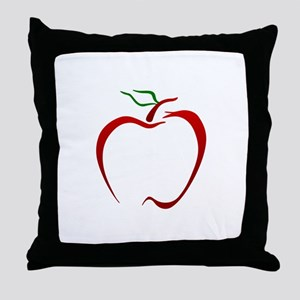 Apple Outline Throw Pillow
