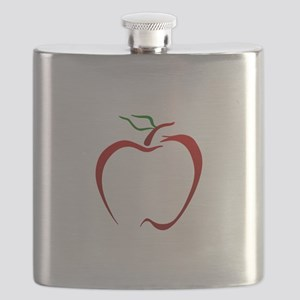 Apple Outline Flask