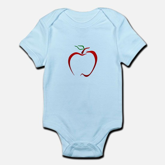 Apple Outline Body Suit