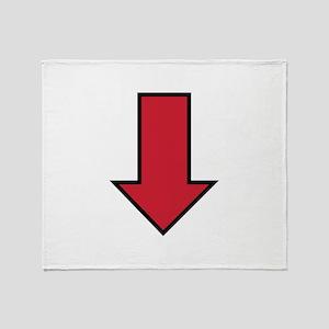 Red Arrow Throw Blanket