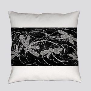 Dragonfly Night Flit Everyday Pillow