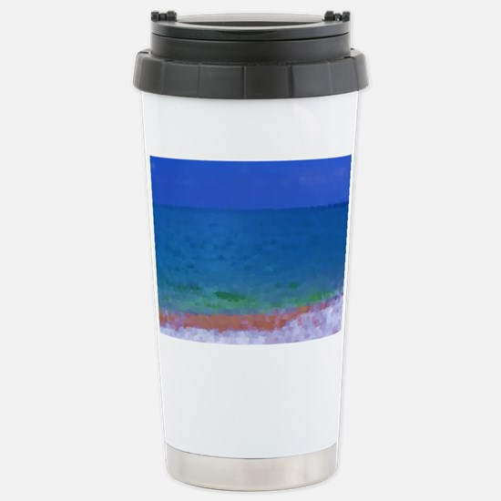 painting water landscap Stainless Steel Travel Mug