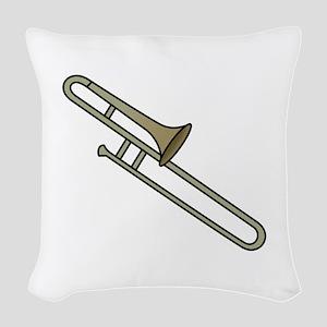 Trombone Woven Throw Pillow
