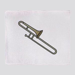 Trombone Throw Blanket