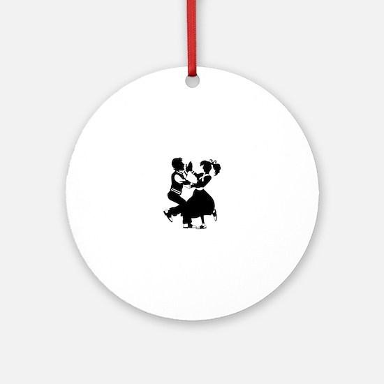 Jitterbug Silhouette Ornament (Round)
