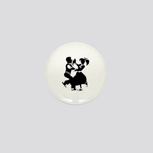 Jitterbug Silhouette Mini Button