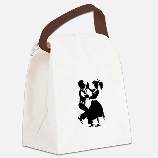 Jitterbug Silhouette Canvas Lunch Bag