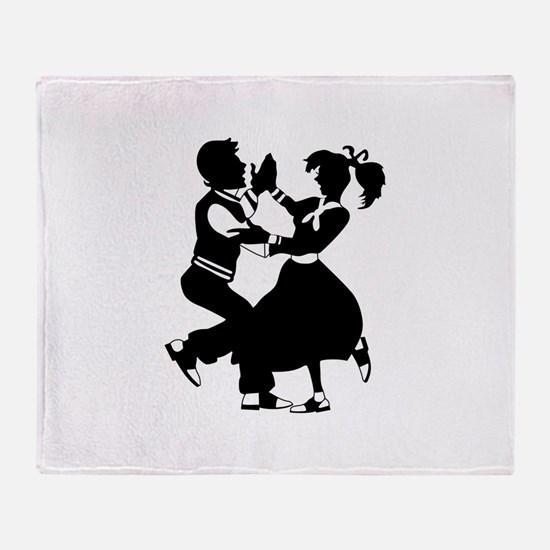 Jitterbug Silhouette Throw Blanket