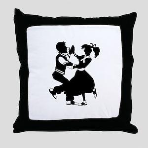 Jitterbug Silhouette Throw Pillow