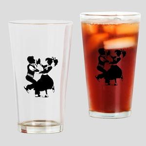 Jitterbug Silhouette Drinking Glass