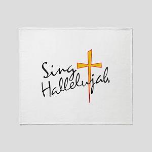 Sing Hallelujah Throw Blanket
