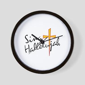 Sing Hallelujah Wall Clock