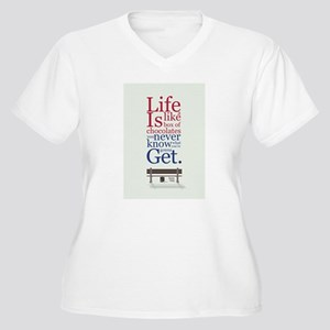 Forrest Gump Box Of Choclates Mo Plus Size T-Shirt