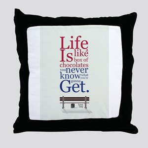 Forrest Gump Box Of Choclates Movie T Throw Pillow