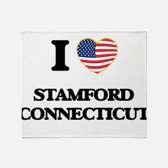 I love Stamford Connecticut Throw Blanket