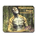 """""""Tigerman Contemplates A New Reality"""" Mousepad"""