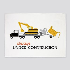 Always Under Construction 5'x7'Area Rug