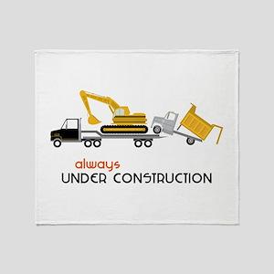 Always Under Construction Throw Blanket