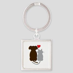 Dog Heart Cat Keychains