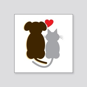 Dog Heart Cat Sticker