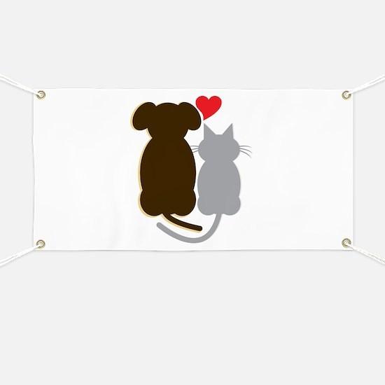 Dog Heart Cat Banner