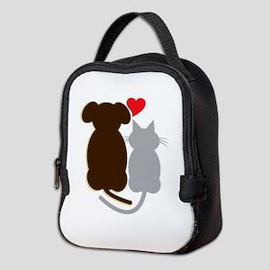 Dog Heart Cat Neoprene Lunch Bag