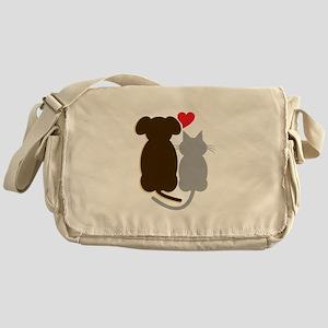Dog Heart Cat Messenger Bag