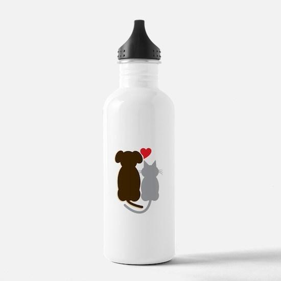Dog Heart Cat Water Bottle