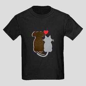 Dog Heart Cat T-Shirt