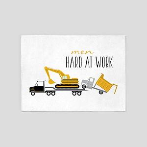 Men Hard At Work 5'x7'Area Rug