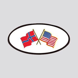 Norwegian American Flags Patch