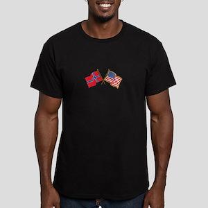 Norwegian American Flags T-Shirt