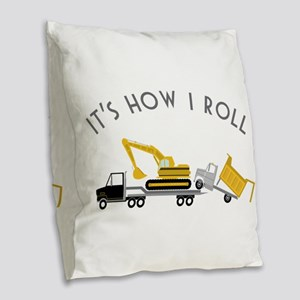 It's How I Roll Burlap Throw Pillow