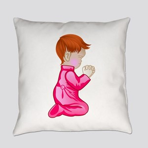 Little Girl Praying Everyday Pillow