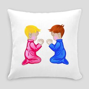 Little Boy & Girl Praying Everyday Pillow