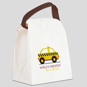 Taxi Driver Canvas Lunch Bag