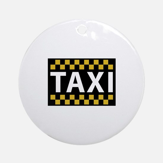 Taxi Ornament (Round)