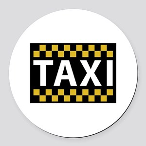 Taxi Round Car Magnet