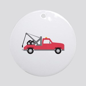 Tow Truck Ornament (Round)