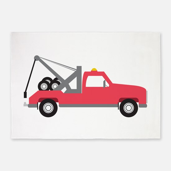Tow Truck 5'x7'Area Rug