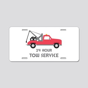 24 Hour Tow Service Aluminum License Plate