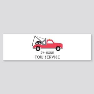 24 Hour Tow Service Bumper Sticker