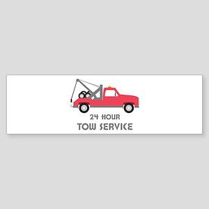 24 Hour Tow Service Bumper Sticker
